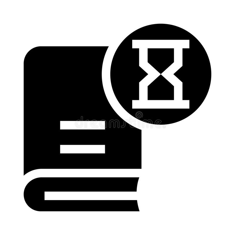 Buchsanduhr Glyphsikone lizenzfreie abbildung