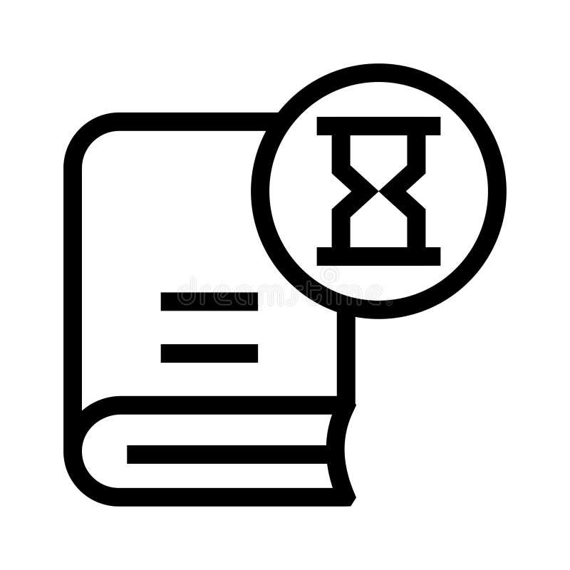 Buchsanduhrlinie Ikone lizenzfreie abbildung