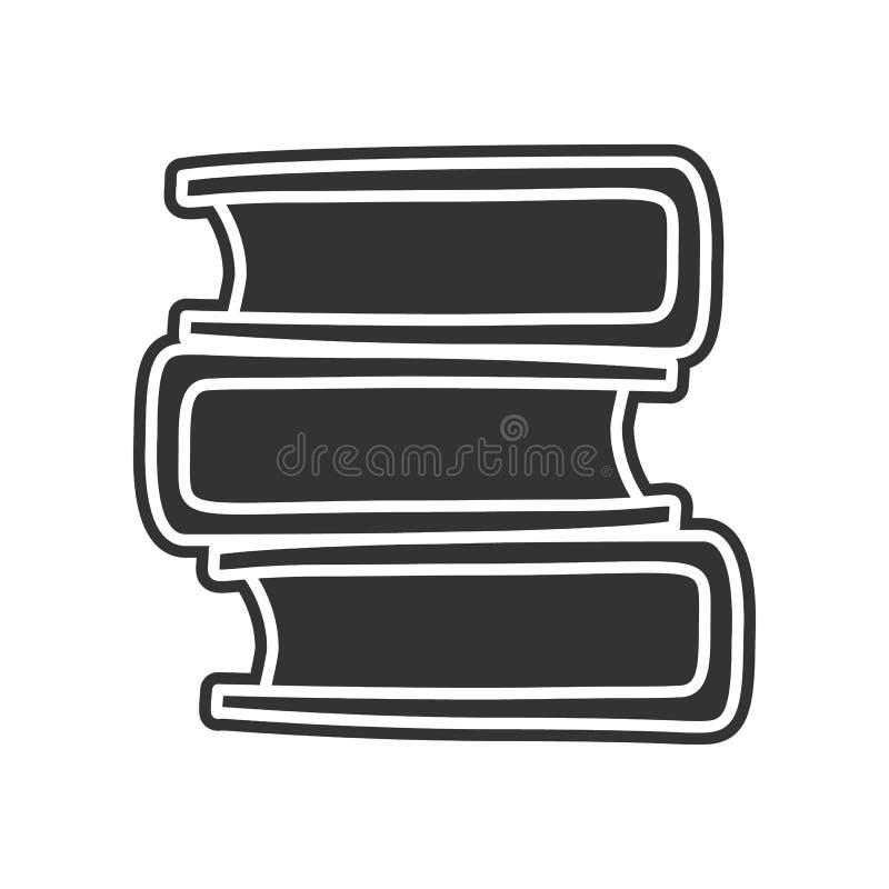 Buchskizzenikone Element der Bildung für bewegliches Konzept und Netz apps Ikone Glyph, flache Ikone für Websiteentwurf und Entwi vektor abbildung