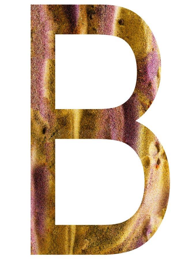 Buchstabe b des Alphabetes lizenzfreie abbildung