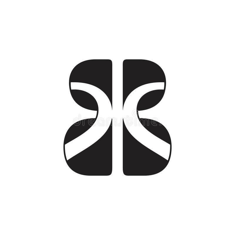 Buchstabe b Swooshbewegungsentwurfs-Logovektor stock abbildung