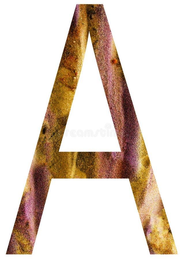 Buchstabe a des Alphabetes stock abbildung