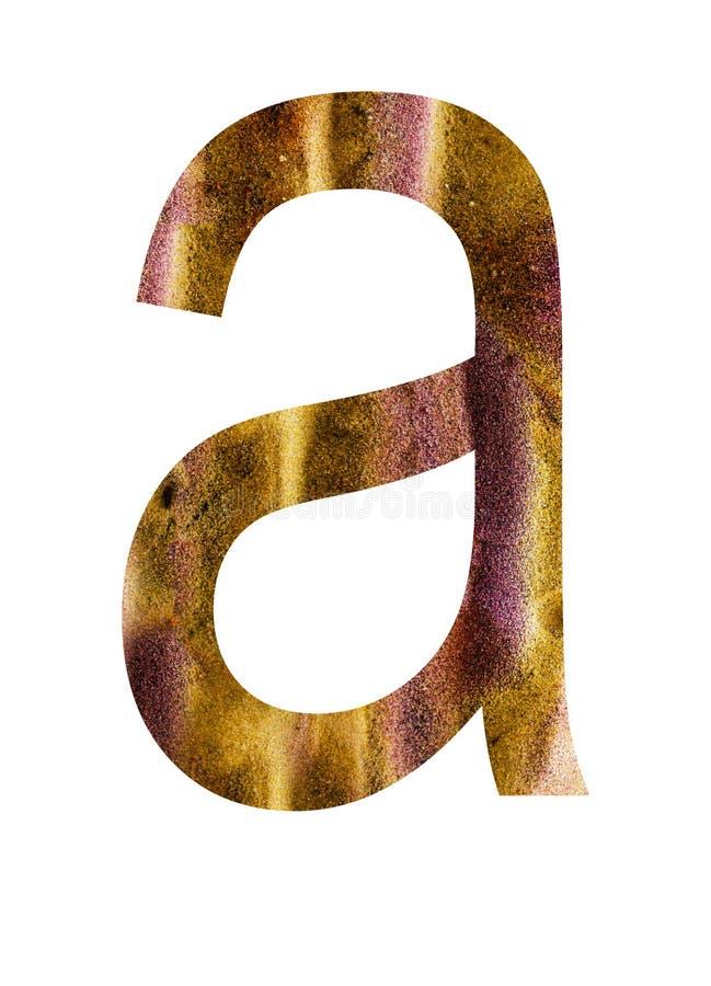 Buchstabe a des Alphabetes lizenzfreie abbildung
