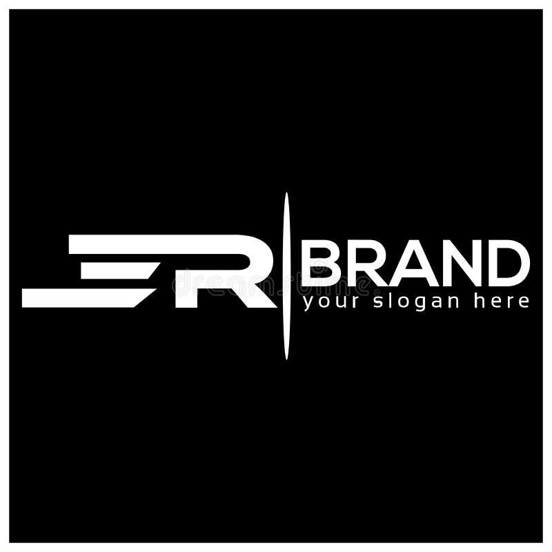 Buchstabe E und R auf weißem Hintergrund Logo hat den schnellen und zuverlässigen Eindruck Logodesignschablone vektor abbildung