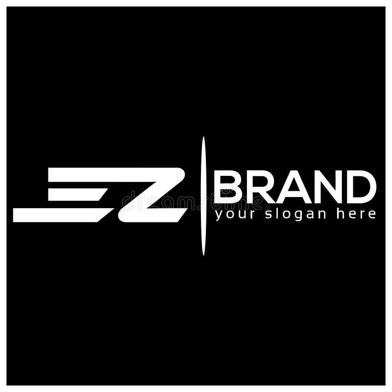 Buchstabe E und Z auf weißem Hintergrund Logo hat den schnellen und zuverlässigen Eindruck Logodesignschablone lizenzfreie abbildung