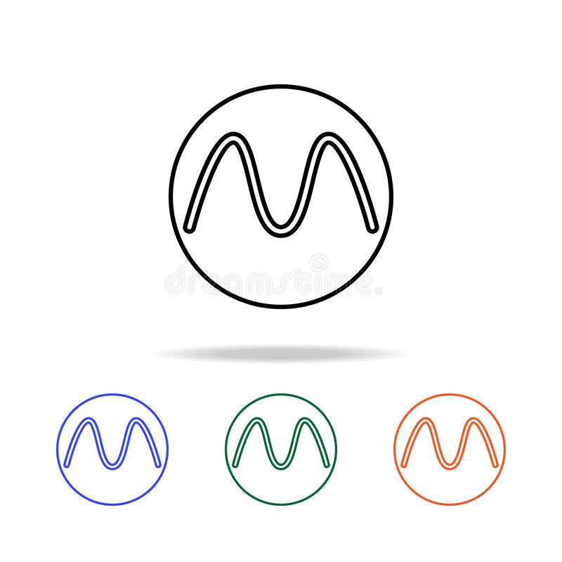 Buchstabe in einer Kreisikone Elemente der einfachen Netzikone in der multi Farbe Erstklassige Qualitätsgrafikdesignikone Einfach vektor abbildung