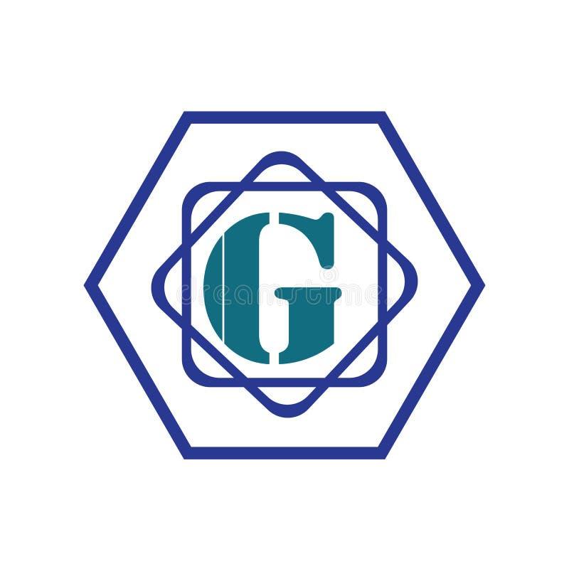 Buchstabe G-Logoikonenentwurfs-Schablonenelemente für Ihre Anwendungs- oder Firmenidentität lizenzfreie abbildung