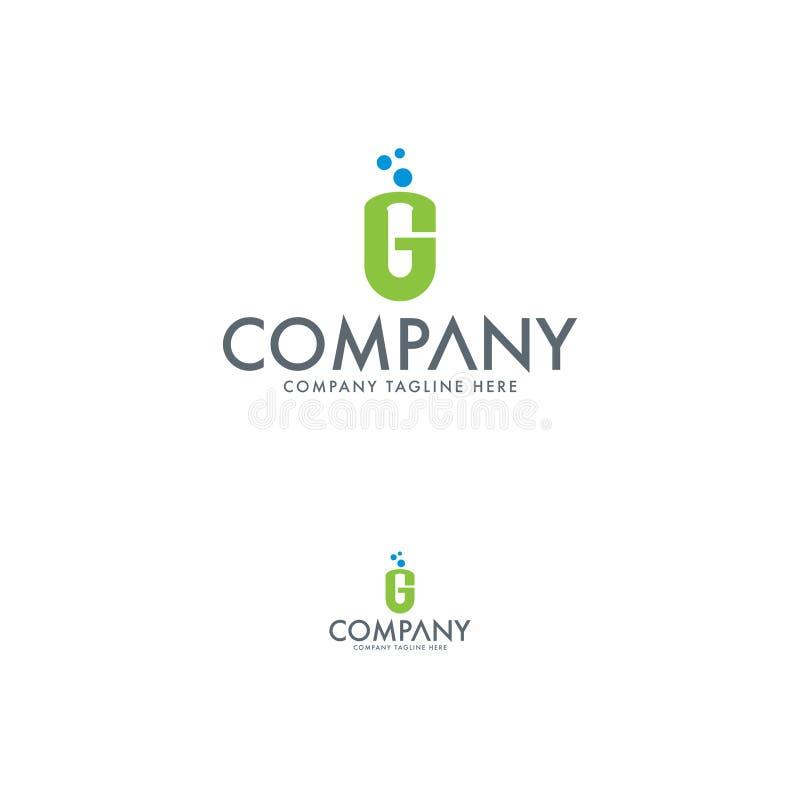 Buchstabe G und medizinische Logoschablone stock abbildung