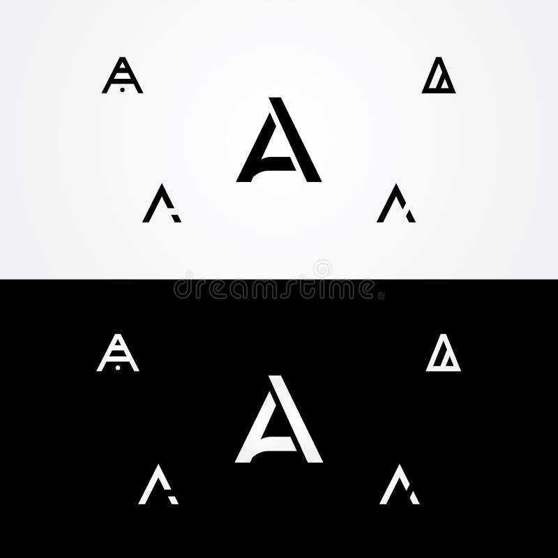 Buchstabe ` A ` große große Logo-Satzfirma lizenzfreies stockfoto