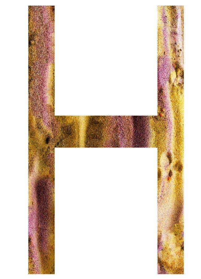 Buchstabe h des Alphabetes lizenzfreie abbildung