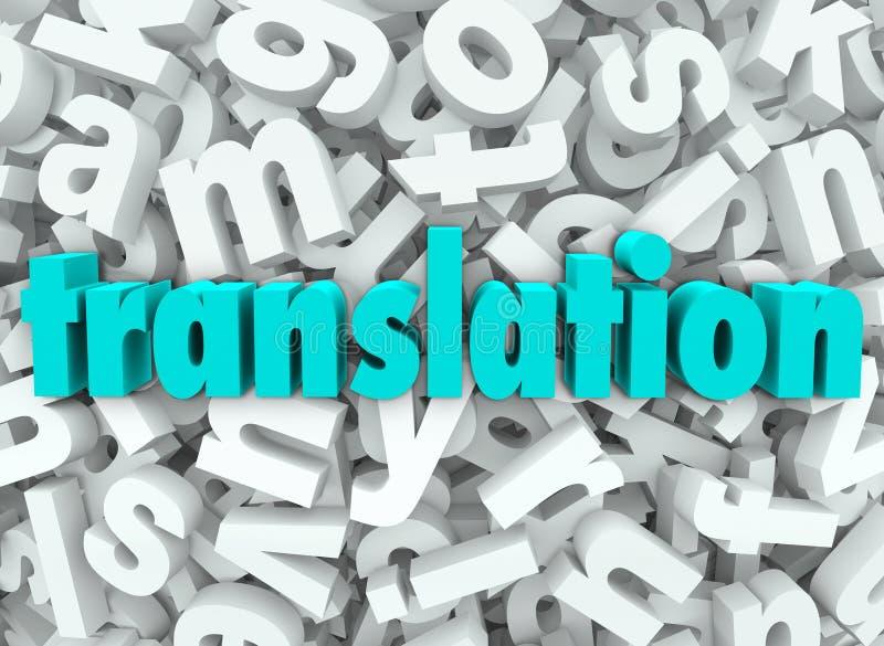 Buchstabe-Hintergrund der Übersetzungs-3d interpretieren Sprachbedeutung lizenzfreie abbildung