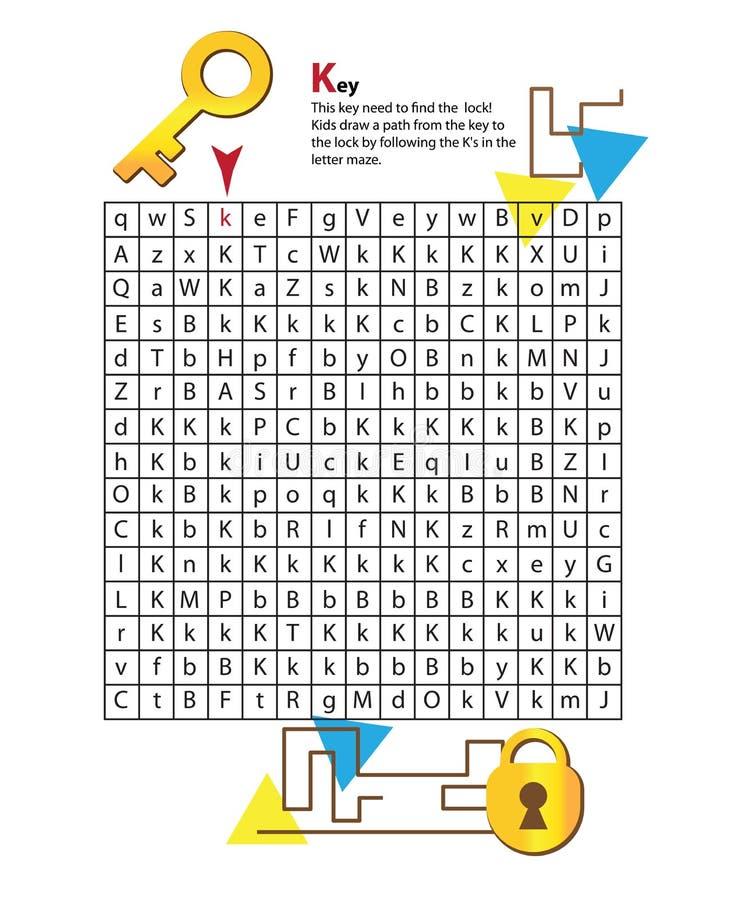 Buchstabe-Labyrinth K Dieses Arbeitsblatt Hilft Kindern Zu Erkennen ...