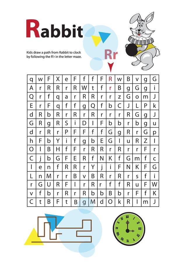 Buchstabe-Labyrinth R Dieses Arbeitsblatt Hilft Kindern Zu Erkennen ...