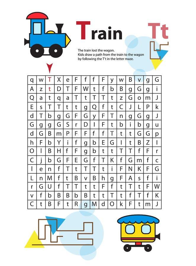 Buchstabe-Labyrinth T Dieses Arbeitsblatt Hilft Kindern Zu Erkennen ...