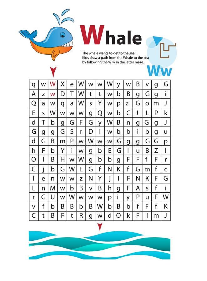 Buchstabe-Labyrinth W Dieses Arbeitsblatt Hilft Kindern Zu Erkennen ...