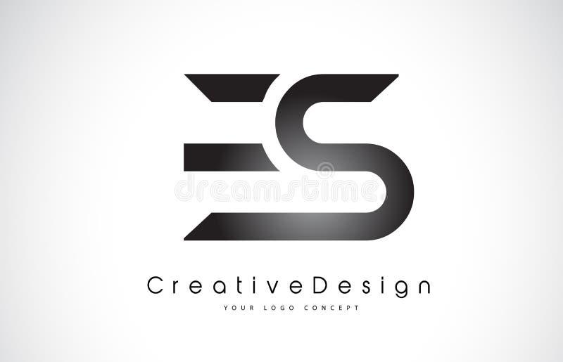 Buchstabe Logo Design ES E S Kreative Ikonen-moderner Buchstabe-Vektor L lizenzfreie abbildung