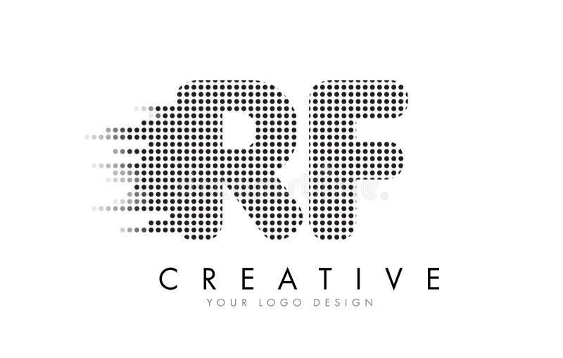 Buchstabe-Logo Rfs R F Mit Schwarzen Flecken Und Spuren Vektor ...