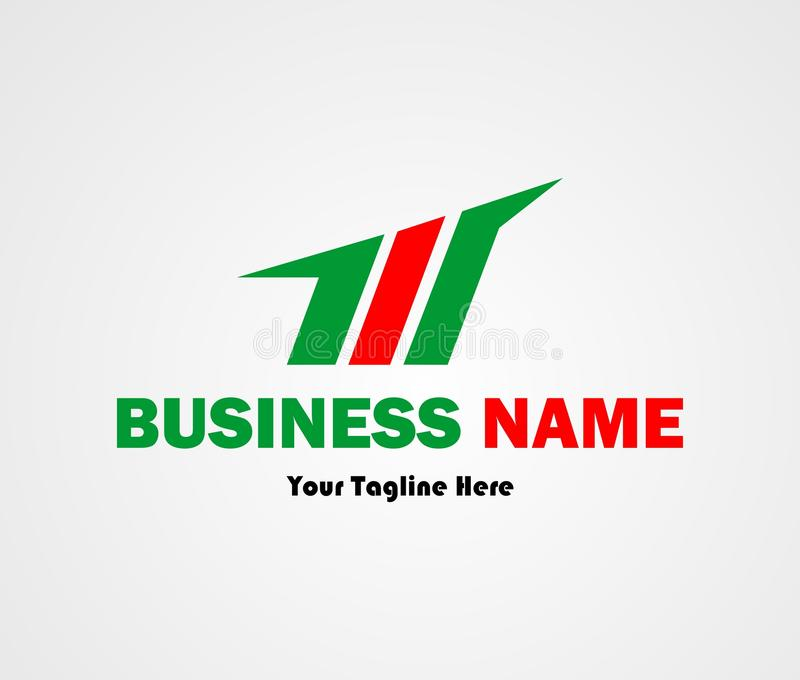 Buchstabe M Logo Design Awesome Concept stock abbildung