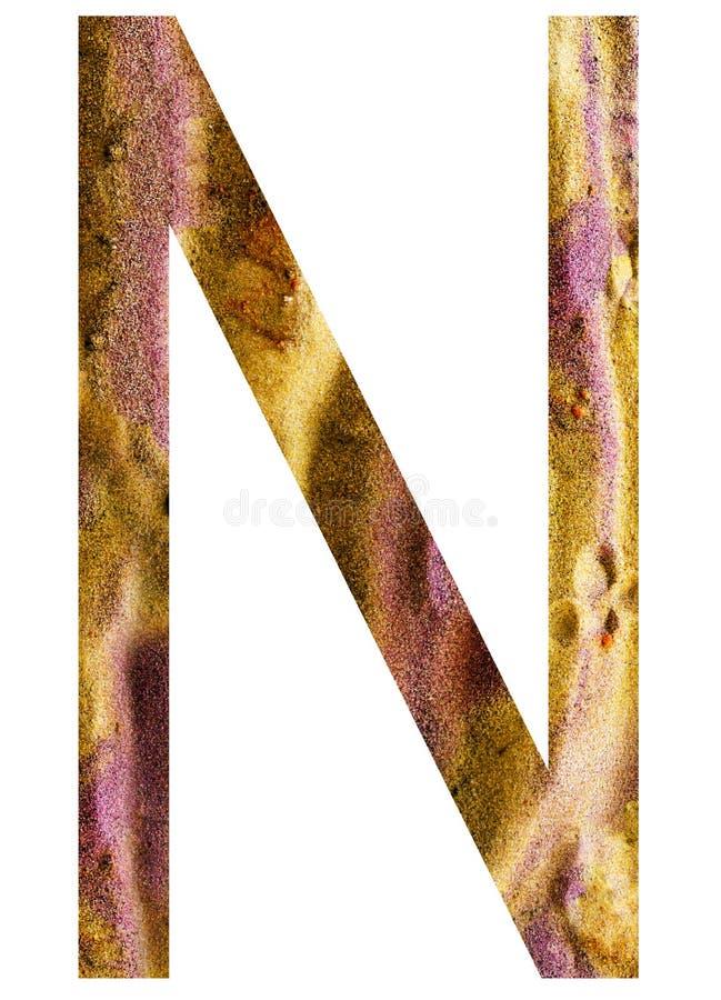 Buchstabe N des Alphabetes lizenzfreie abbildung