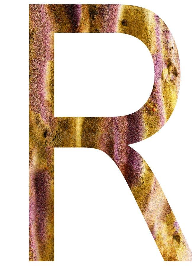 Buchstabe r des Alphabetes lizenzfreie abbildung