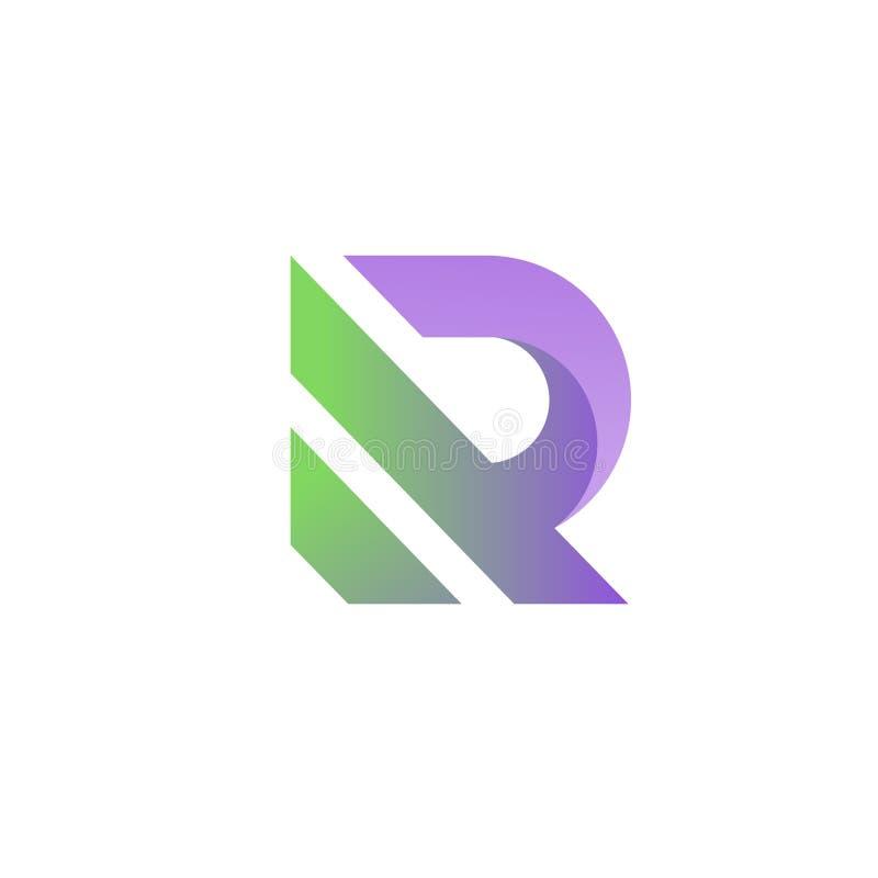 Buchstabe r mutiges und denkwürdiges Logo stock abbildung