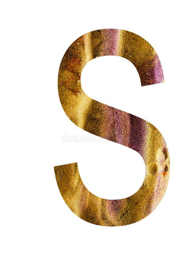 Buchstabe s des Alphabetes stock abbildung