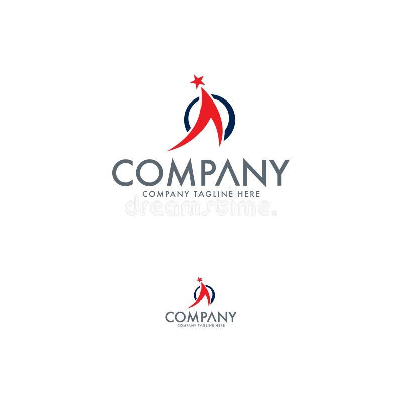 Buchstabe A, Stern und Ausbildungs-Logo lizenzfreie abbildung