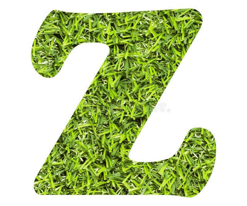 Buchstabe Z - künstlicher Hintergrund des grünen Grases Beschneidungspfad eingeschlossen vektor abbildung
