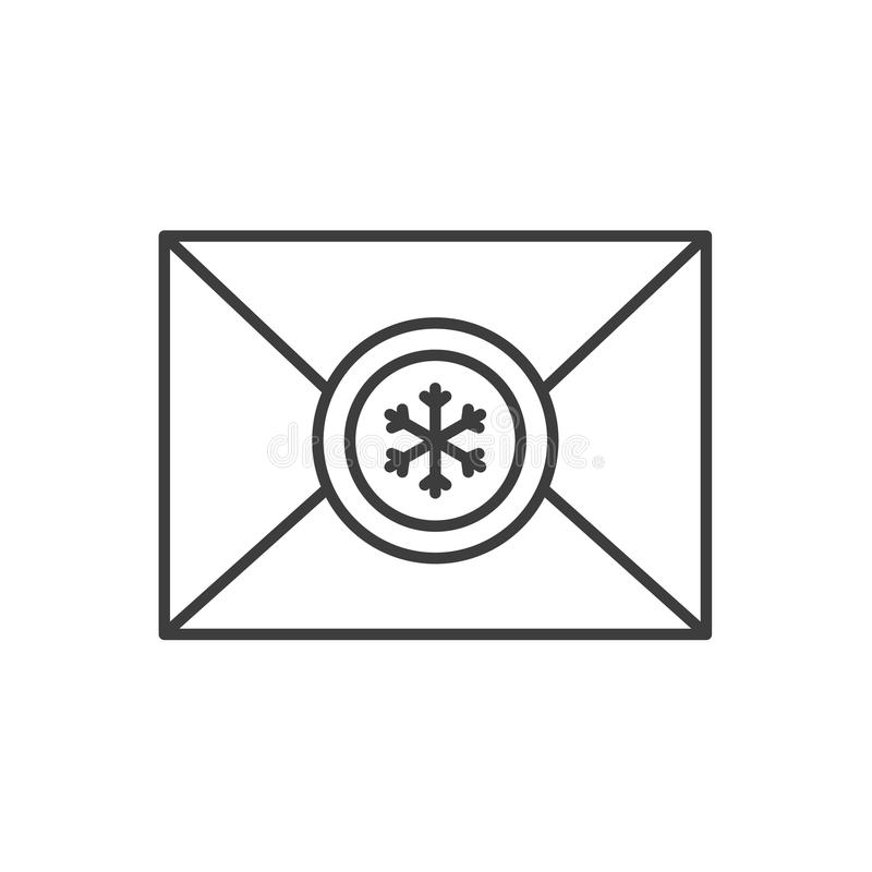 Buchstabe zu linearer Ikone Santa Clauss lizenzfreie abbildung