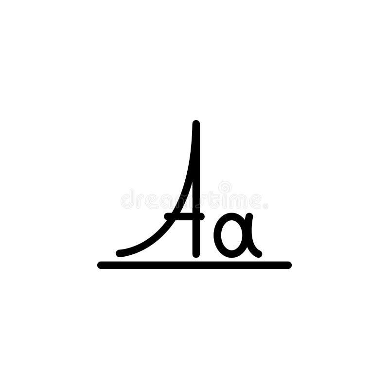 Buchstaben, Symbol für Großbuchstaben Element des Bildungs-Symbols Symbol für dünne Linie vektor abbildung