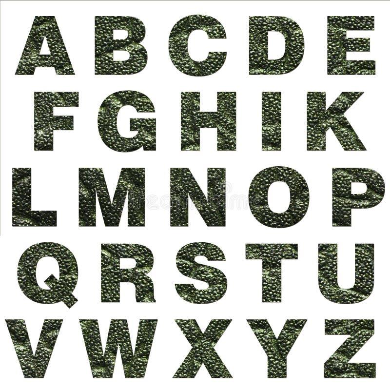 Buchstaben von der Haut stock abbildung