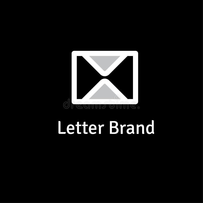 Buchstabevektorlogo-Designschablone lizenzfreie abbildung