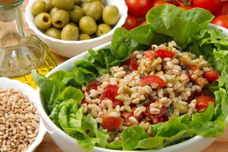 Buchstabierter Salat stockbilder