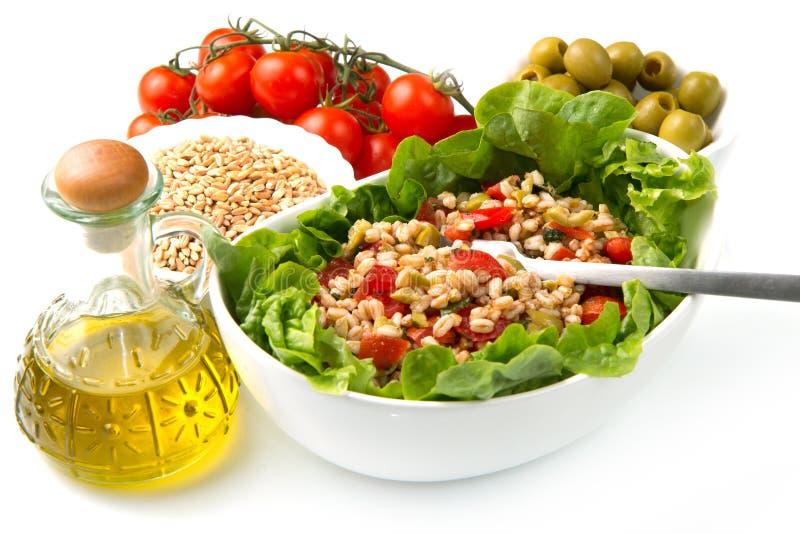 Buchstabierter Salat stockbild