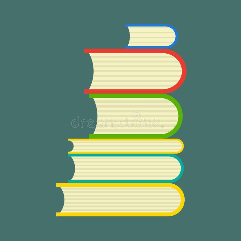 Buchstudienvektorbibliotheks-Leseausbildung Lokalisierte wei?e Seitenansichtuniversit?t der Literatur Ikone stock abbildung