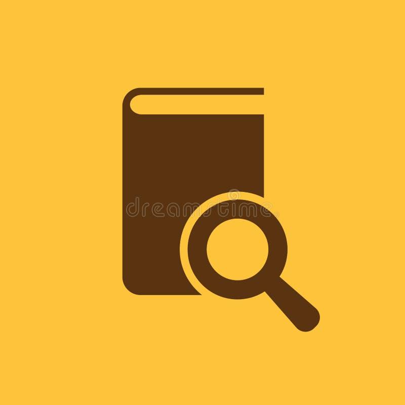Buchsuchikone ENV 10 Bibliothek, Suchsymbol web graphik jpg ai app zeichen nachricht flach bild zeichen lizenzfreie abbildung
