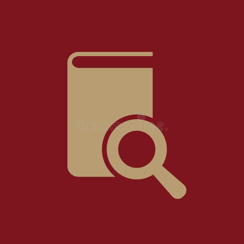 Buchsuchikone ENV 10 Bibliothek, Suchsymbol web graphik jpg ai app zeichen nachricht flach bild zeichen vektor abbildung