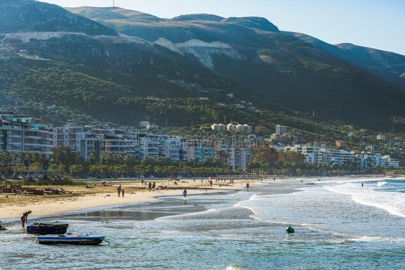 Bucht in Albanien lizenzfreie stockfotos