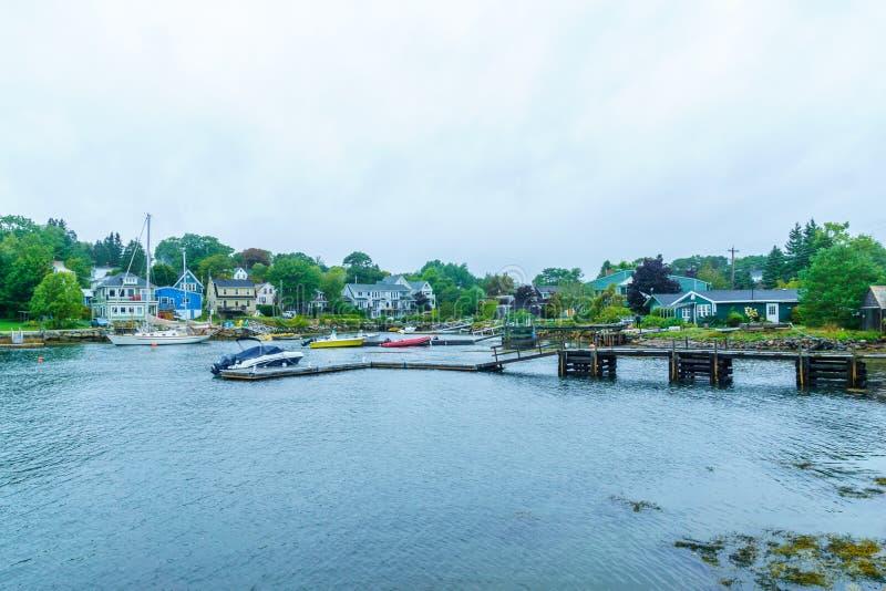Bucht, Boote und H?user in Chester lizenzfreie stockbilder