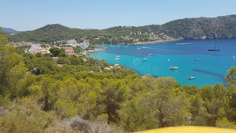Bucht Camp de Mar Mallorca Sonne stock images