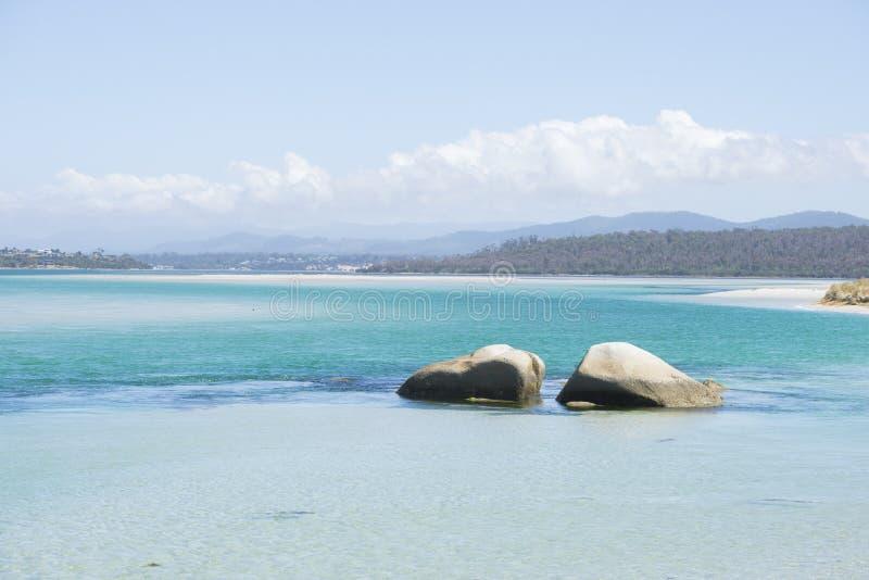 Bucht des Feuers, Georges Bay, St. Helens, Tasmanien lizenzfreies stockfoto