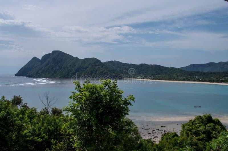 Bucht an Maluk-Strand auf Sumbawa, Indonesien stockbild