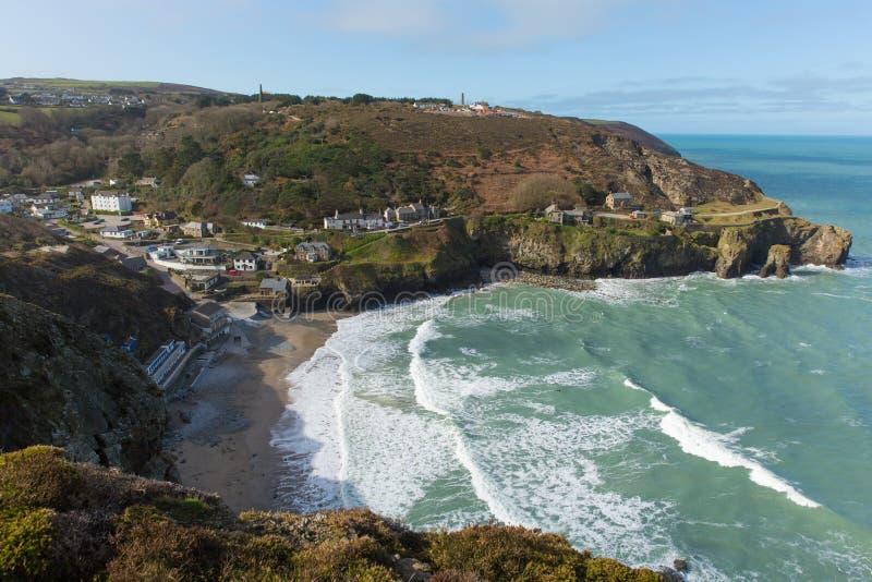 Bucht an St. Agnes North Cornwall England Großbritannien stockfotografie