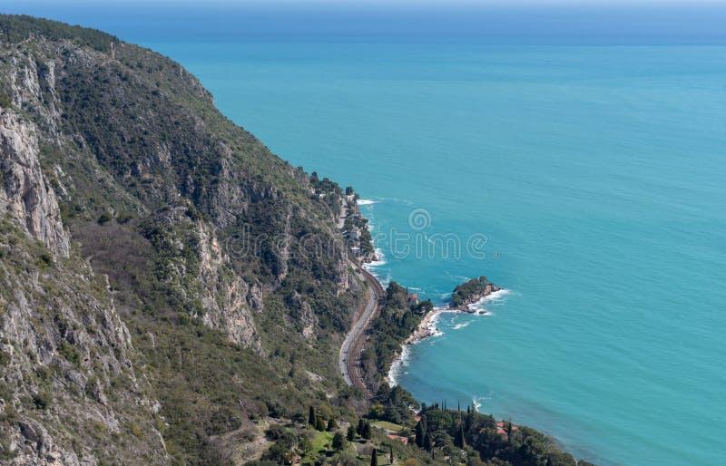 Bucht von Beaulieu, französisches Riviera lizenzfreies stockfoto