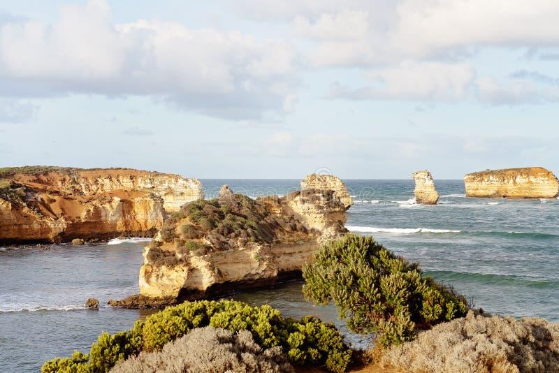 Bucht von Inseln auf der gro?en Ozean-Stra?e Australien stockfoto