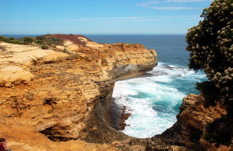 Bucht von Inseln, große Ozean Straße, Australien. lizenzfreies stockbild