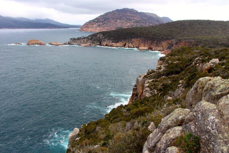 Bucht Weinglas-Bucht Tasmaniens Coles lizenzfreie stockfotografie