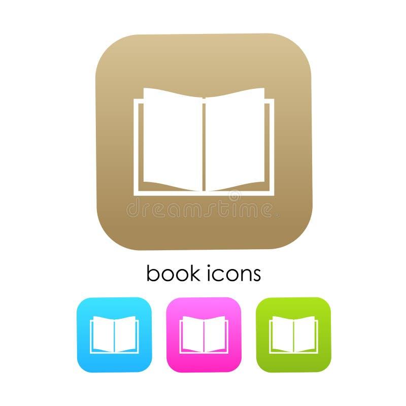 Buchvektorikone lizenzfreie abbildung