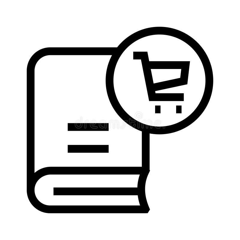 Buchwarenkorblinie Ikone stock abbildung