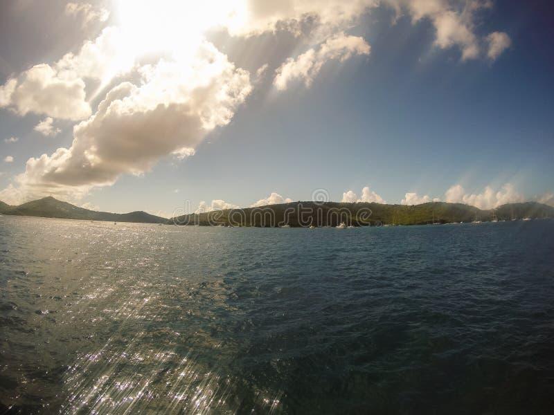 Buck Island, el Caribe - 2019 Playa de Paradise en el mar del Caribe imagen de archivo libre de regalías